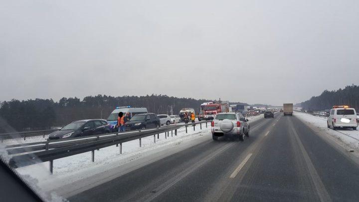Wypadek drogowy na autostradzie A4 [FOTO]