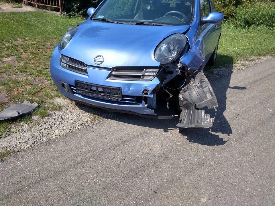 Łęki: Wypadek drogowy z udziałem motocykla i samochodu osobowego