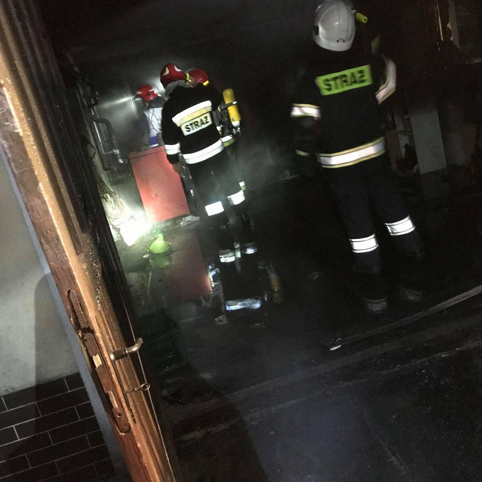Pożar garażu w Tymowej