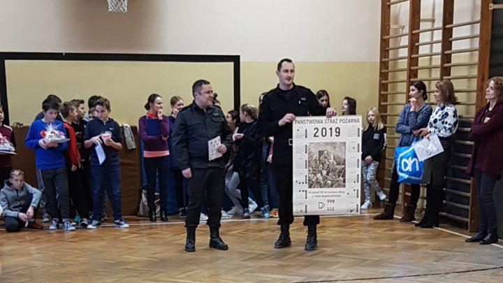 Brzescy strażacy z wizytą w szkołach