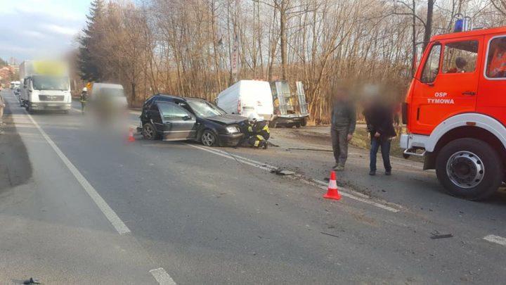 Wypadek drogowy na DK75 w Tymowej [VIDEO, FOTO]