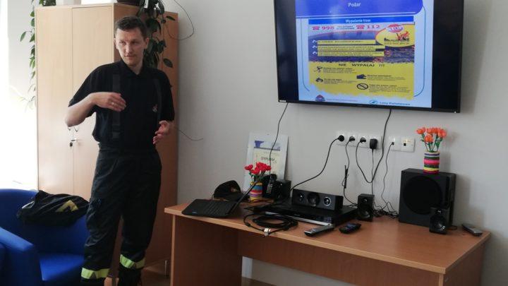 W Dziennym Domu Opieki Medycznej gościł strażak